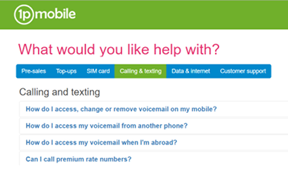 1p Mobile FAQs about calling