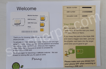 Photo of 1pMobile's welcome letter