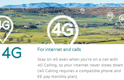 4G calling on EE's network