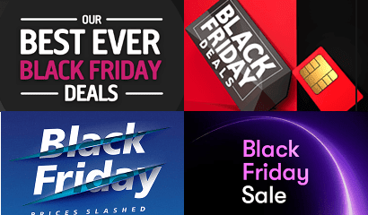 Montage of previous Black Friday banners