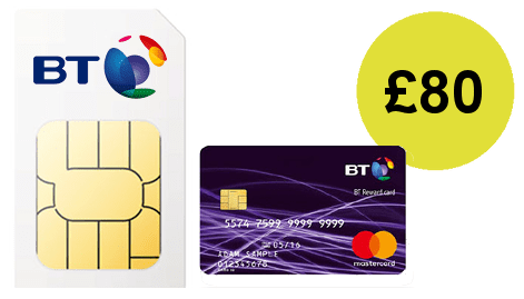 BT Mobile £80 Reward Card