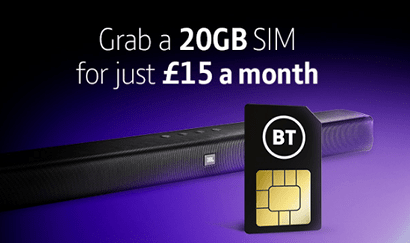 BT Mobile £15 20GB deal