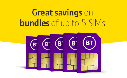BT Mobile's Family SIM banner