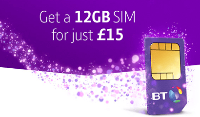 BT Mobile January Sale SIM only banner
