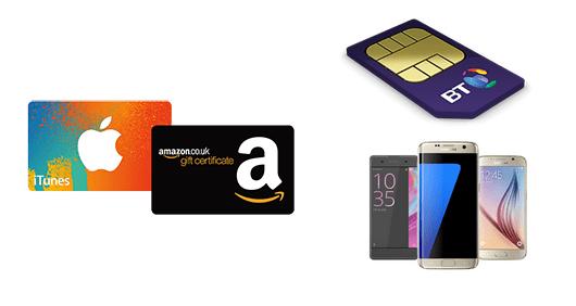 BT Mobile Amazon or iTunes voucher