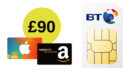 BT Mobile £90 Amazon voucher