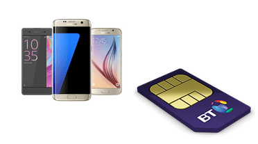 BT Mobile phones and SIMs deals