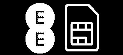 EE logo with a SIM card