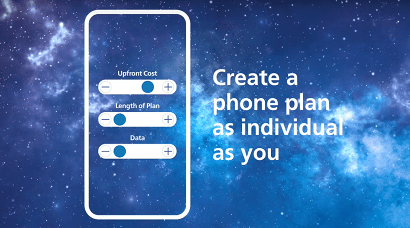O2 customisable phone plans banner