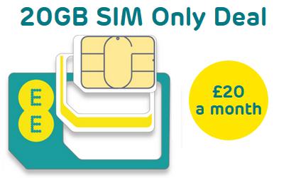 EE 20GB EE SIM only deal