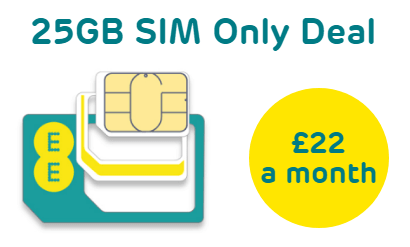 EE 25GB EE SIM only deal