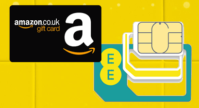 EE SIM card and an Amazon voucher
