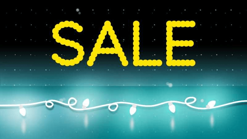 The word sale on a background