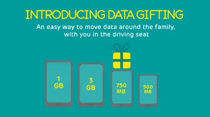 EE data gifting