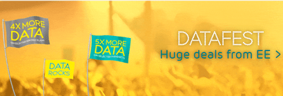 EE's datafest offer banner