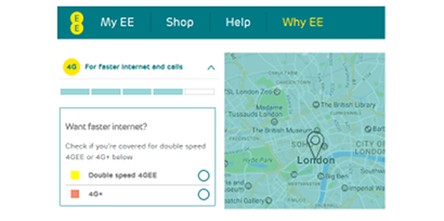 EE faster 4G locations