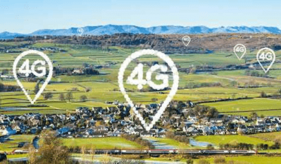 Countryside dotted with 4G indictors