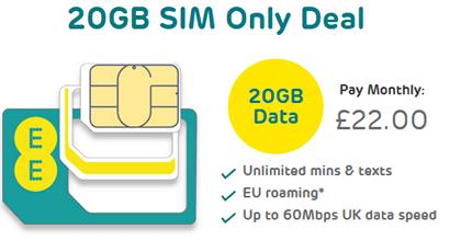 EE SIM only deals