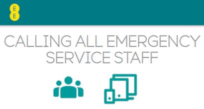 EE emergency staff discount