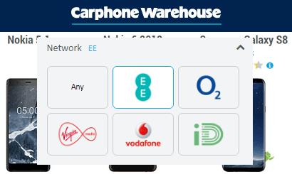 EE Carphone Warehouse deals