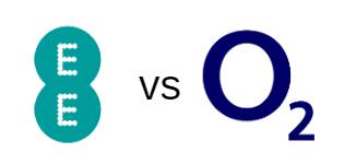 EE and O2 logos