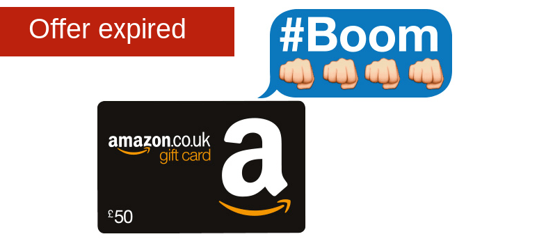 £50 gift card for Amazon