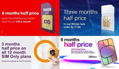 Montage of offers with free months