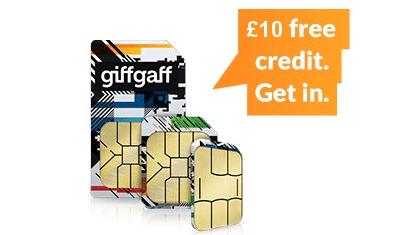 giffgaff free credit offer