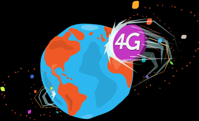 giffgaff branded globe with 4G