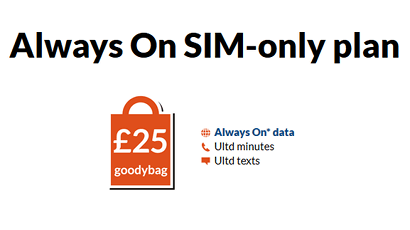 giffgaff Always On SIM only plan