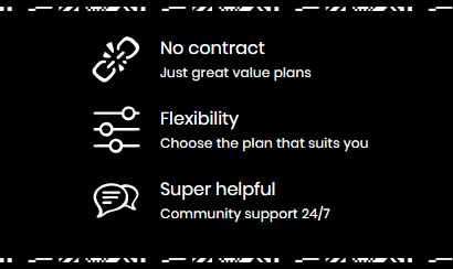 giffgaff benefits on a black background