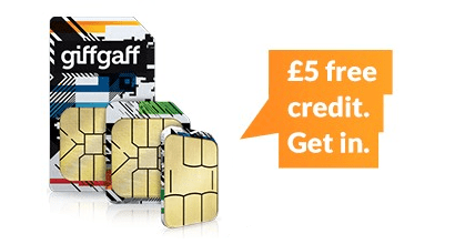 giffgaff free credit offer