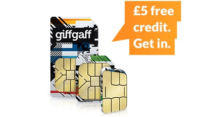 £5 free credit with giffgaff