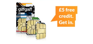 Latest giffgaff offer