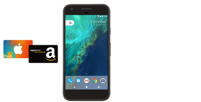 iTunes or Amazon voucher with Google Pixel