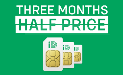 iD Mobile 3 months half price offers