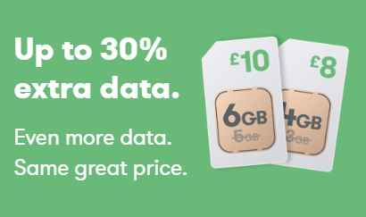 iD Mobile 30 percent extra data