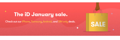 iD Mobile January Sale banner
