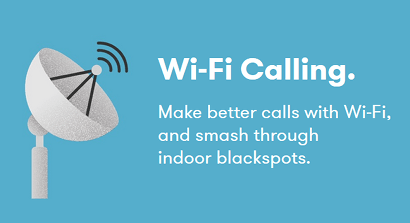 An iD Mobile banner for WiFi calling