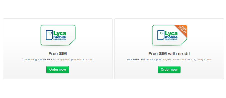 Order a free Lycamobile SIM card: direct from official site