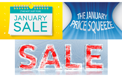 Banners from January sales
