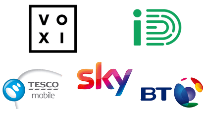 Logos of mobile network without unlimited data