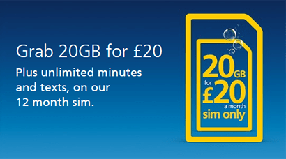 O2's best SIM only deal