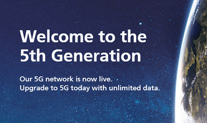 O2 5G network launch banner