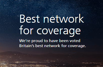 O2 best network for coverage banner