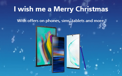 O2's Christmas offers banner