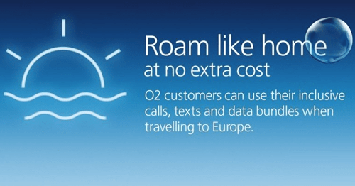 Free EU roaming on O2
