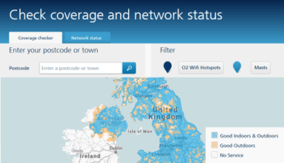 O2's indoor coverage checker