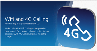O2's WiFi calling and app