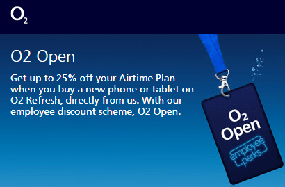 O2 Open employee perks